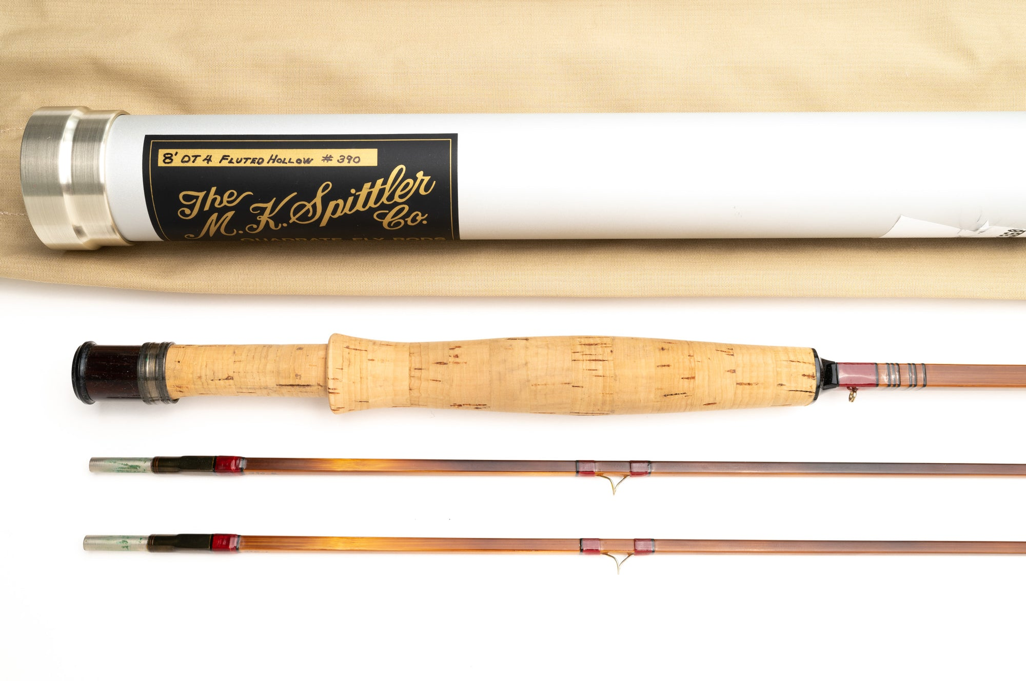 Mike Spittler Fluted Hollow Fly Rod 8' 2/2 #4