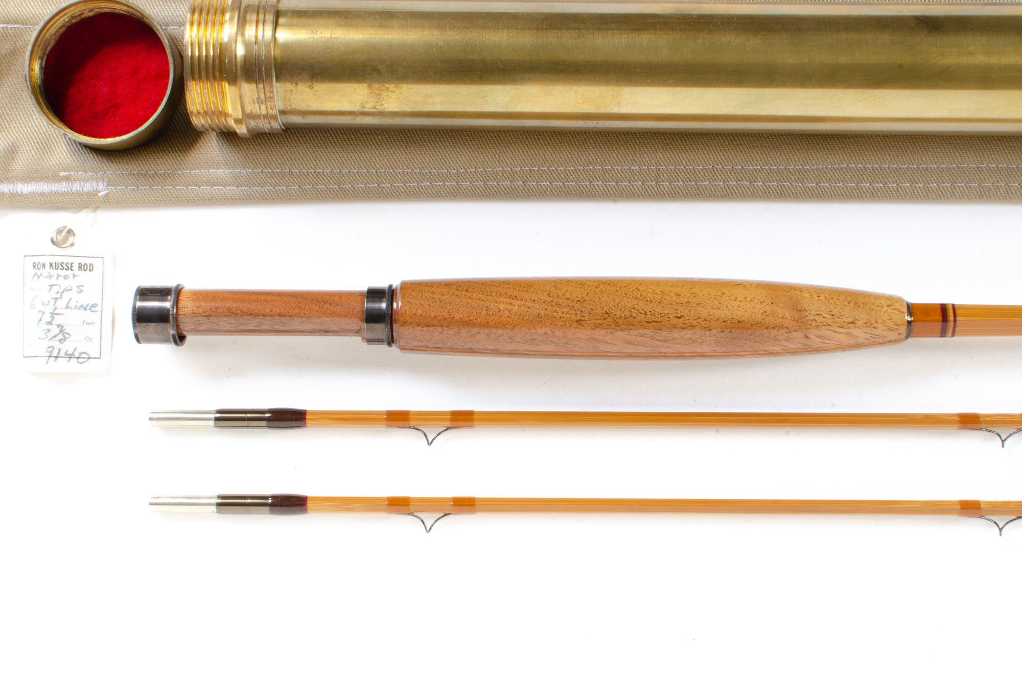"Ron Kusse Fly Rod 7'6"" 2/2 #6"