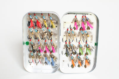 Wheatley Salmon Box with 60 Flies