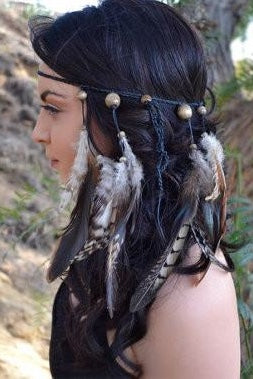 Burning Man Feather Headband #B1054