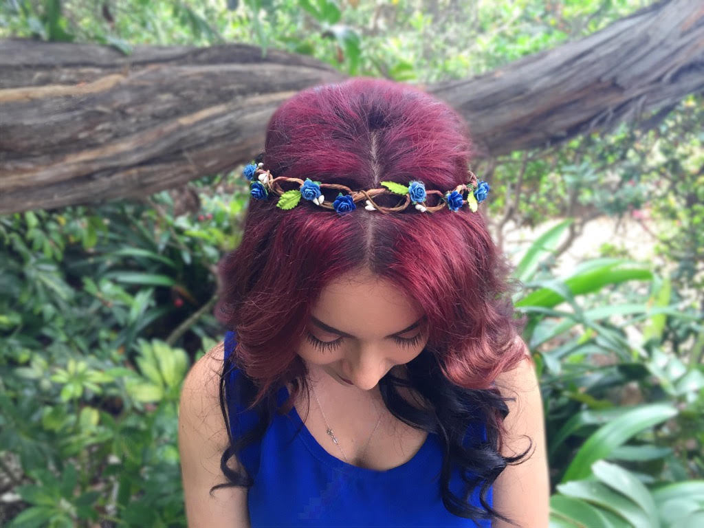 Blue Rose Crown #D1014