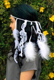 White Feather Headband #B1029