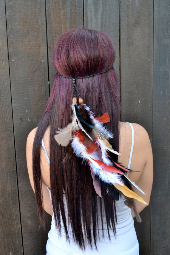 Hippie Feather Headband #B1014