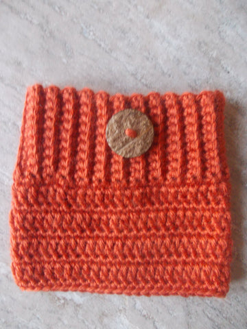 Orange Boot Cuffs