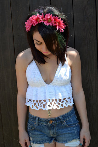 Crochet Halter Top #J1001
