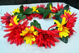 Red & Yellow Flower Crown #D1002