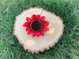 Red Sunflower Hair Clip #F1025