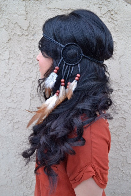 Black Dreamcatcher Headband #A1012