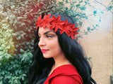 Red Poinsettia Headband #C1126