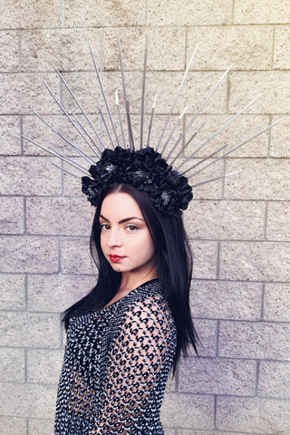 Black & Silver Spike Crown #L1003
