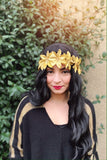 Gold Poinsettia Headband #C1123