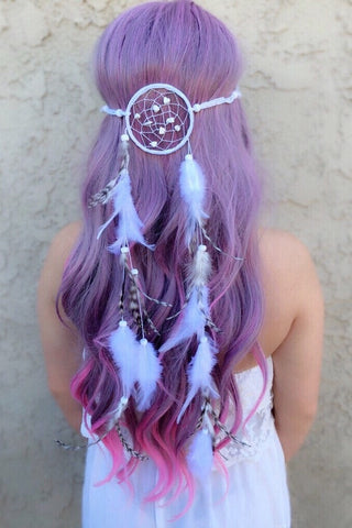 White Dreamcatcher Headband #A1024