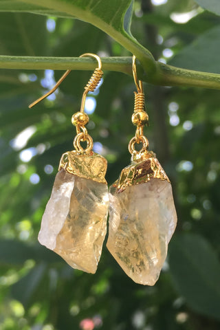 Citrine Crystal Earrings #H1015