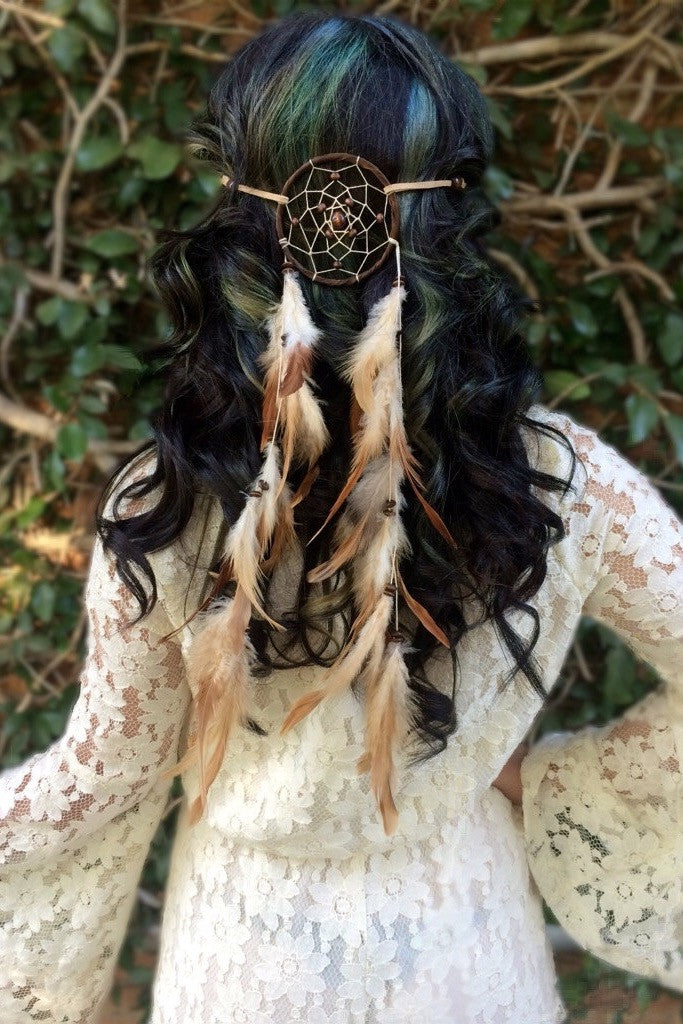 Brown Dreamcatcher Headband #A1021