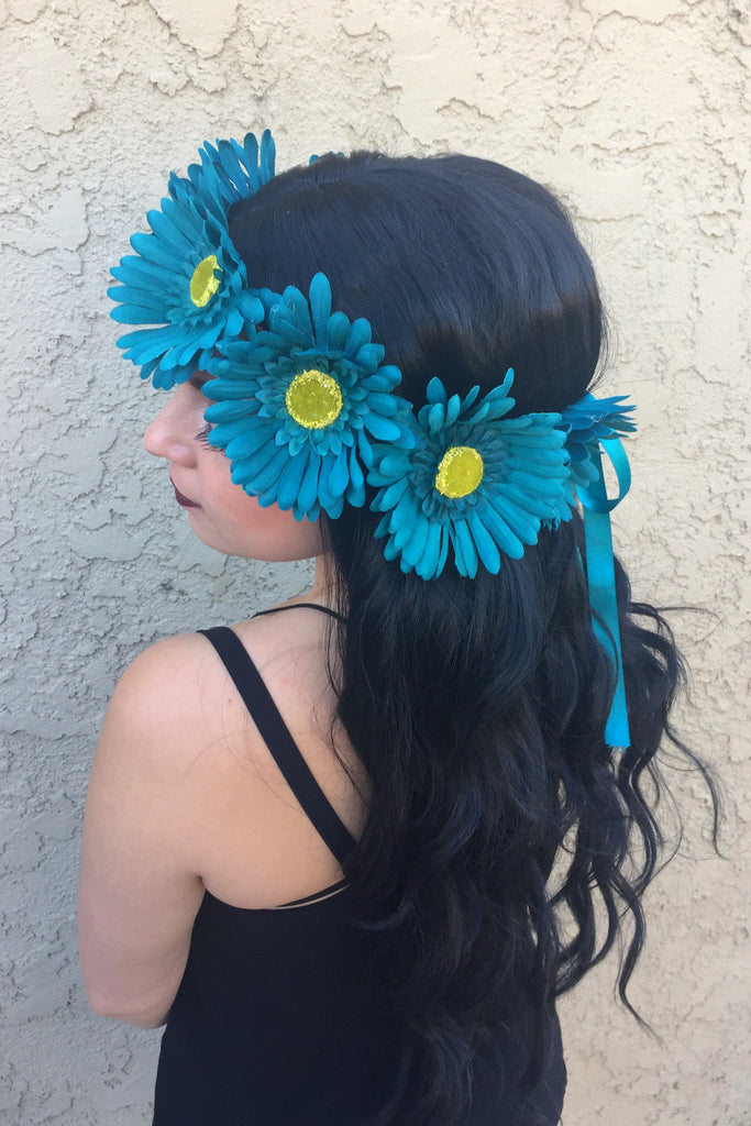 Teal Daisy Crown #D1030