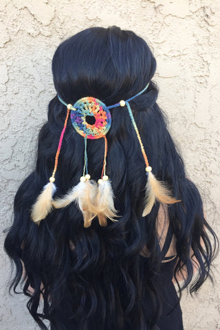 Rainbow Mandala Dreamcatcher #A1032