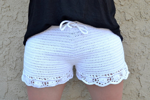 Edgy Crochet Shorts