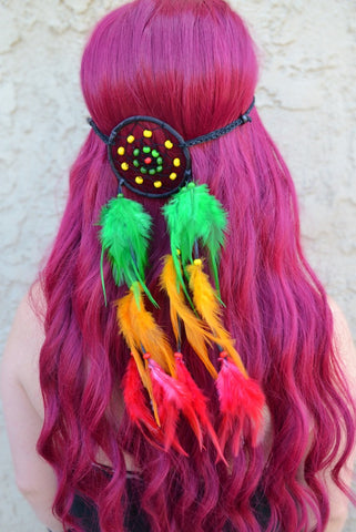 Rasta Dreamcatcher Headband #A1022