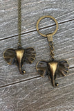 Bronze Elephant Necklace #I1122