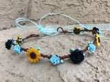 Sunflower Rose Crown #D1047