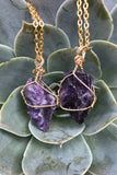 Amethyst Stone Necklace #I1121