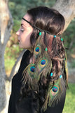 Peacock Feather Headband #B1045
