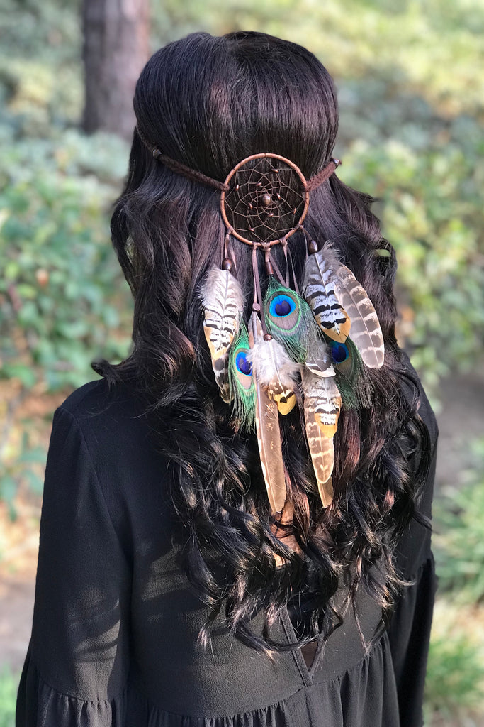 Brown Dreamcatcher Headband #A1037