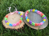 Rainbow Flower Crown #D1046