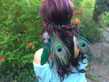 Peacock Feather Headband #B1030