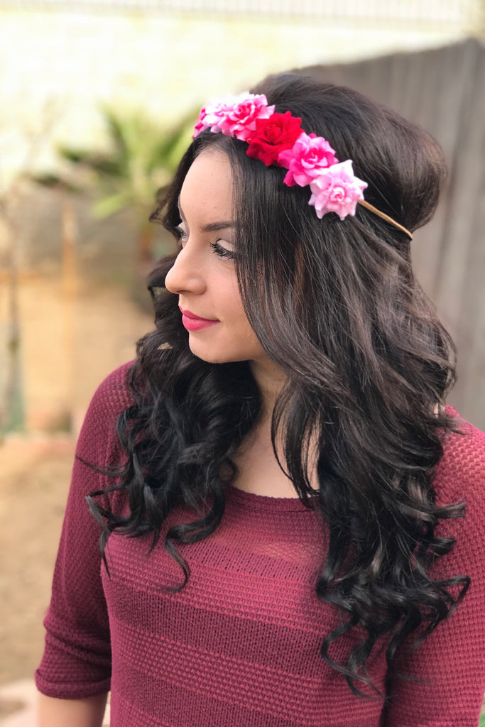 Valentine Rose Headband #C1100