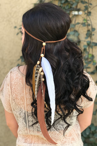 Feather Headband #B1044