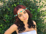 Teal Rose Crown #D1015