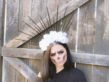 White & Black Spike Crown #D1062
