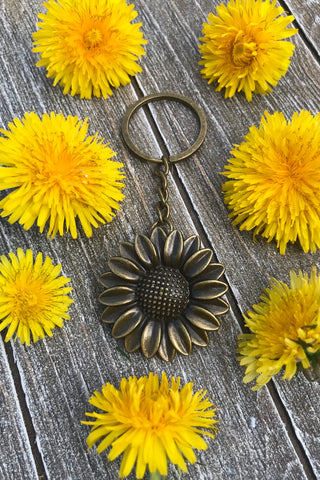 Sunflower Key Chain #J1015