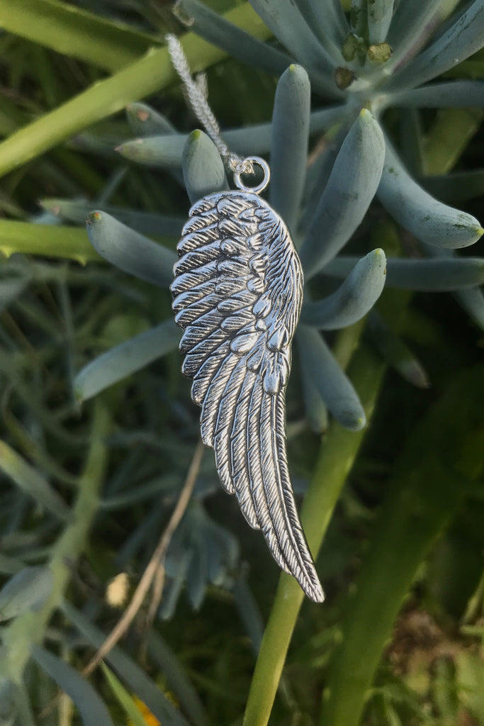 Silver Wing Necklace #I1177