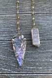 Angel Aura Arrowhead Necklace #I1156