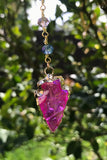 Pink Arrowhead Crystal Necklace #I1142
