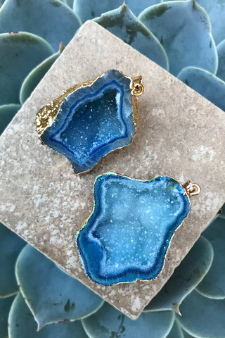 Sapphire Geode Necklace #I1040