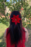 Red Poinsettia Clip #F1027