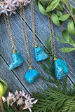 Blue Druzy Agate Necklace #I1045