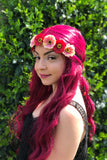 Red & Pink Cherry Blossom Headband #C1113