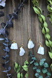 White Druzy Agate Necklace #I1046