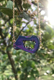 Titanium Geode Slice Necklace #I1170