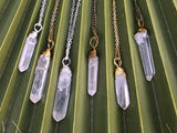 Clear Crystal Quartz Necklace #I1101