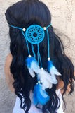 Blue Mandala Headband #A1035