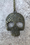 Bronze Skull Necklace #I1103