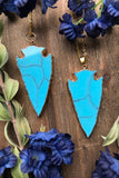 Teal Arrowhead Necklace #I1034