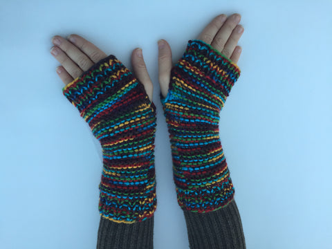 Rainbow Arm Warmers #Q1001