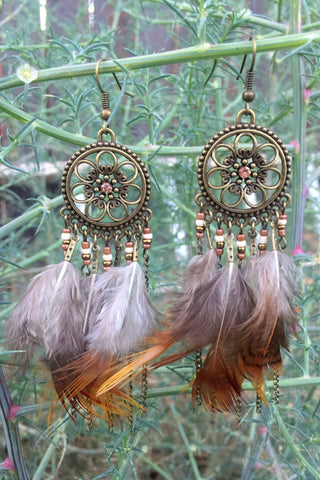 Natural Feather Earrings #H1018