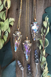 Angel Aura Arrowhead Necklace #I1059